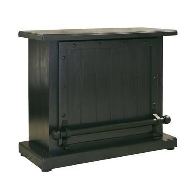 Carissa Bar Serving Cart Rustic Black/Gunmetal - Picket House Furnishings