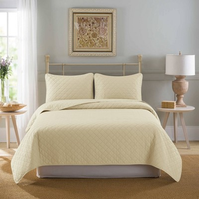 Country Living Solid Washed Quilt Set