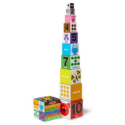 Melissa & Doug® Nesting and Stacking Blocks: Numbers, Shapes, and Colors