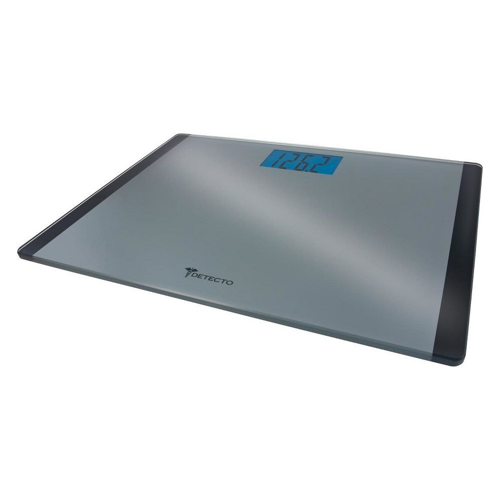 Image of Wide Platform Glass Digital Personal Scale Silver - Detecto