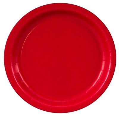 48ct Red Dinner Plate