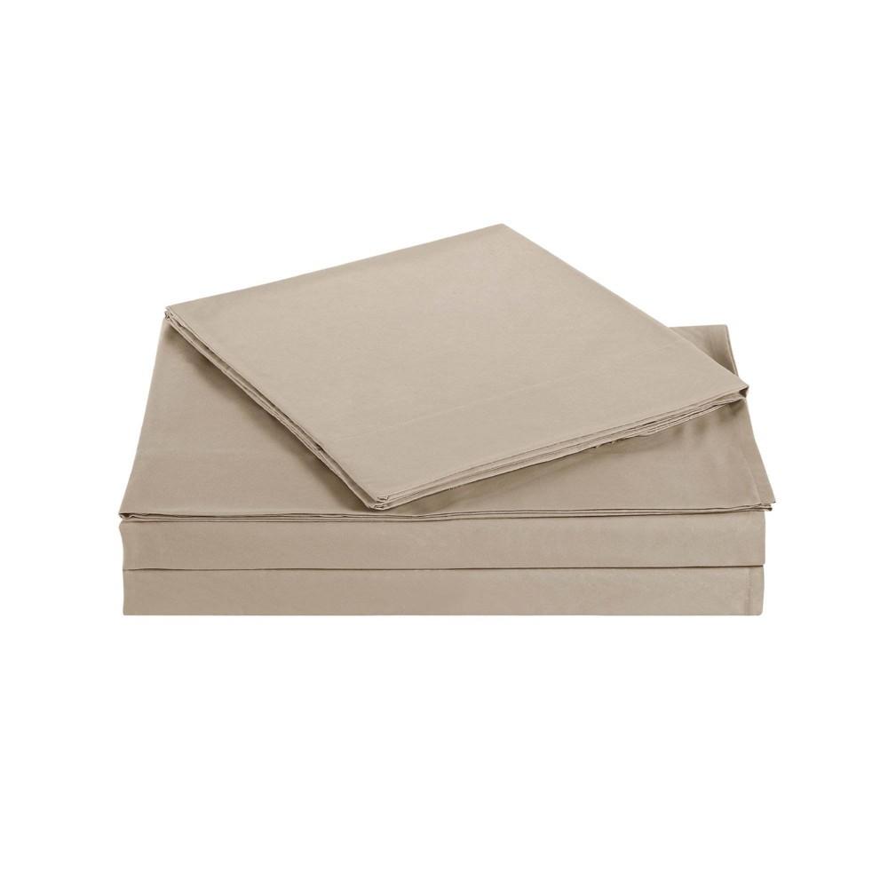 Image of Full Microfiber Everyday Sheet Set Khaki - Truly Soft