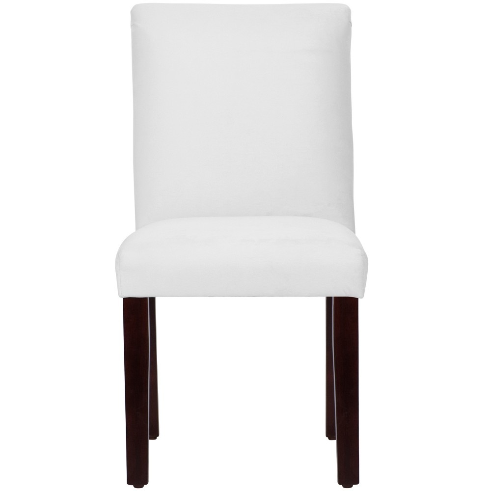 Hendrix Dining Chair with Espresso Legs White Velvet - Cloth & Co.