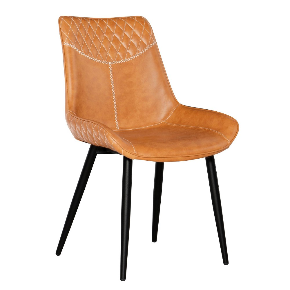 2pc Edler Dining Chairs Brown - Linon