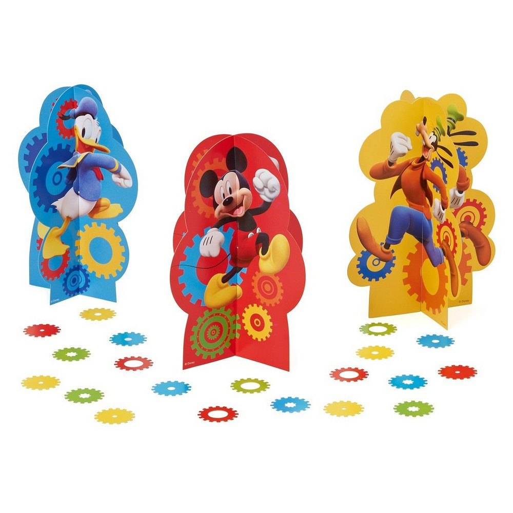3ct Mickey Mouse Table Centerpieces, Multi-Colored