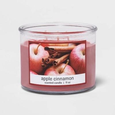 11oz Glass Jar 3-Wick Apple Cinnamon Candle