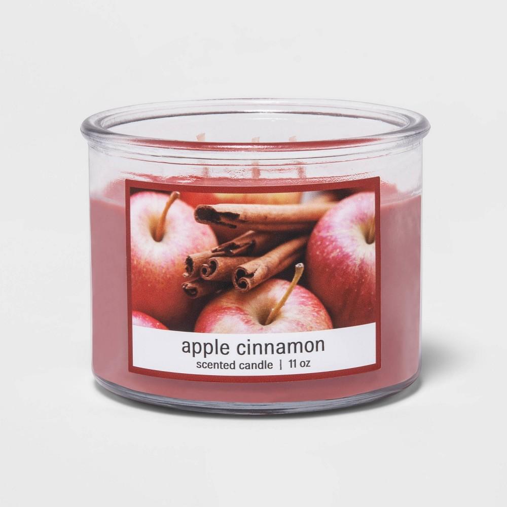 Compare 11oz Glass Jar 3-Wick Apple Cinnamon Candle