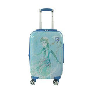 "FUL Disney Frozen 2 Elsa 21"" Carry On Spinner Suitcase - Blue"