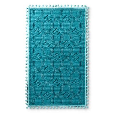 """20""""x34"""" Woven Bath Mat Blue Ocean - Pillowfort™"""