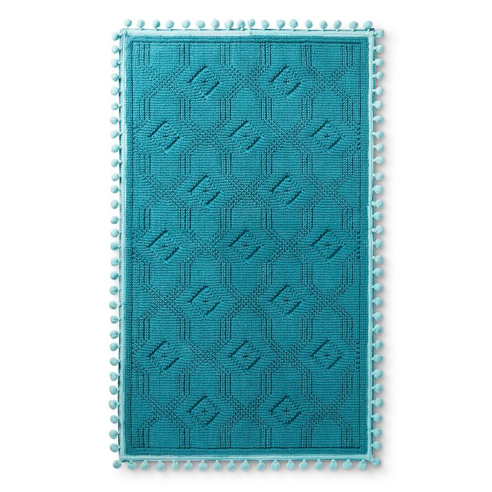 """Image of """"Woven Bath Mat (20""""""""x34"""""""") Blue Ocean - Pillowfort"""""""