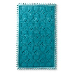 "Woven Bath Mat (20""x34"") Blue Ocean - Pillowfort™"
