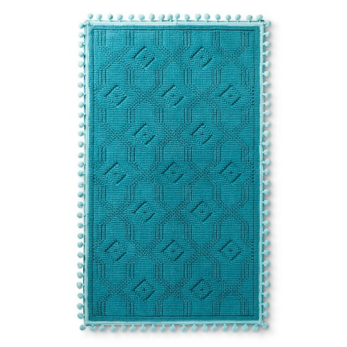 "Woven Bath Mat (20""x34"") Blue Ocean - Pillowfort™ - image 1 of 2"