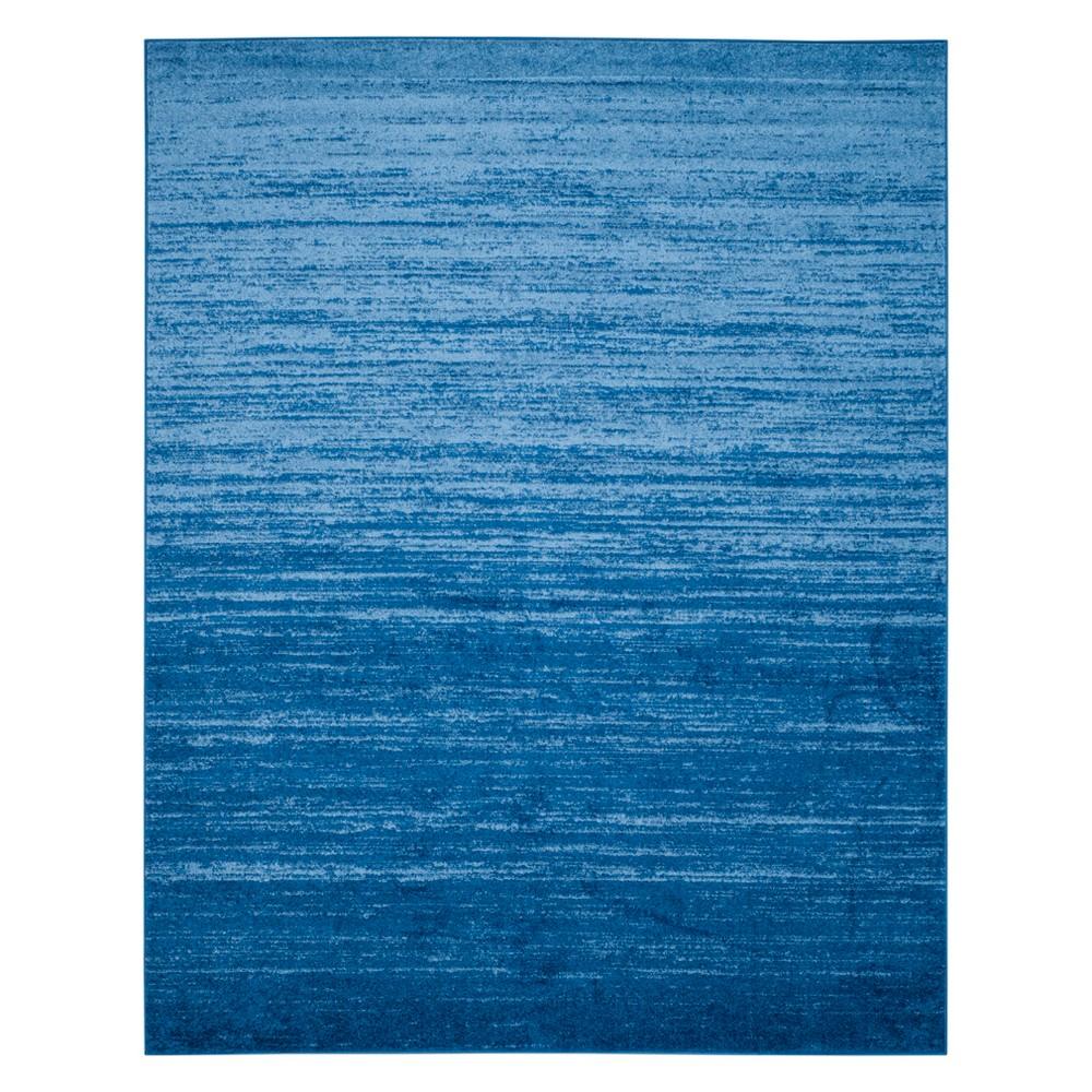 11'X15' Ombre Design Area Rug Light Blue/Dark Blue - Safavieh