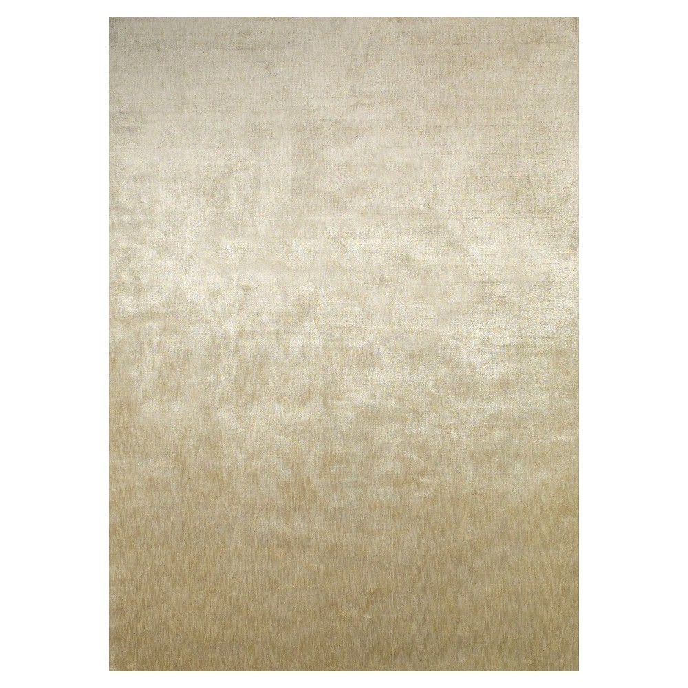 2'X3' Solid Woven Accent Rugs Beige - Room Envy