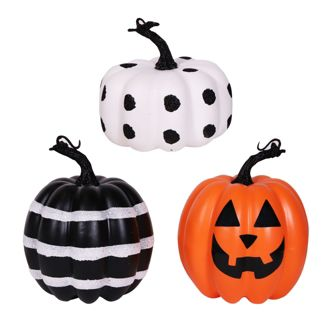 3pk Classic Decor Pumpkins Pattern - Bullseye's Playground