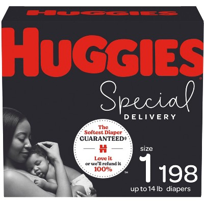 Huggies Special Delivery Hypoallergenic Baby Disposable Diapers - Size 1 - 198ct