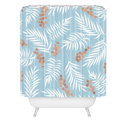 Mistletoe Shower Curtain Blue