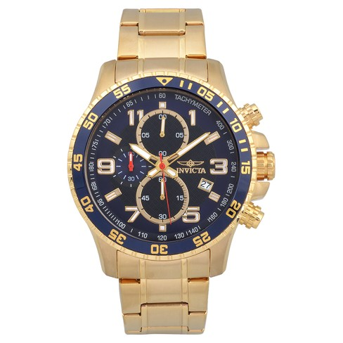 Men's Invicta 14878 Specialty 18K Goldplated Stainless Steel Link Bracelet Watch - Gold - image 1 of 3