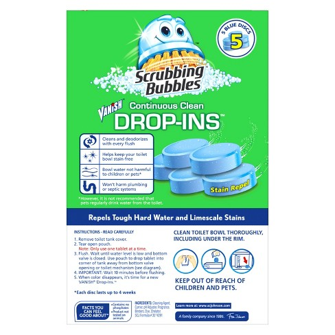 Scrubbing Bubbles Toilet Cleaner Drop Ins - 5pk