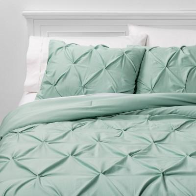 Full/Queen Pinch Pleat Comforter & Sham Set Mint - Threshold™