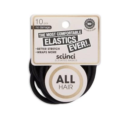 scunci Comfy Elastics - Black - 10pk