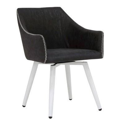 Sydney Swivel Office Chair White/Dark Gray - Calico Designs