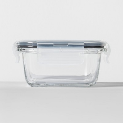 1.6 cup Square Glass Food Storage Container - Made By Design™