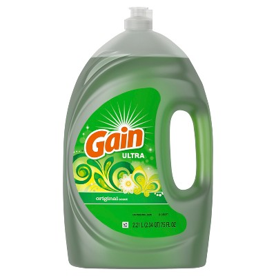 Gain Ultra Dishwashing Liquid Original - 75 fl oz