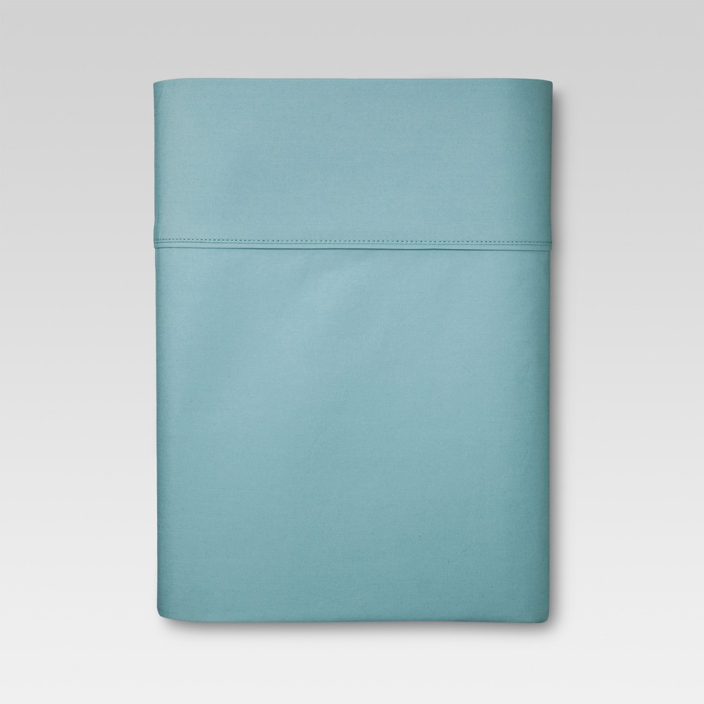 Image of Full 300 Thread Count Ultra Soft Fitted Sheet Ancient Aqua - Threshold , Ancient Blue