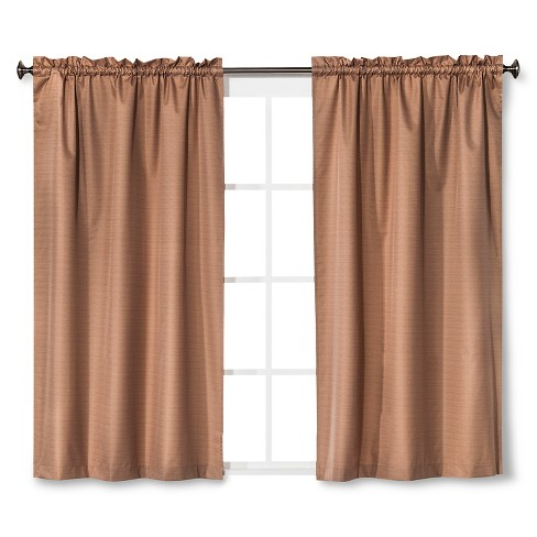 "Braxton Thermaback Light Blocking Curtain Panel Tan (42""x63"") - Eclipse™ - image 1 of 1"