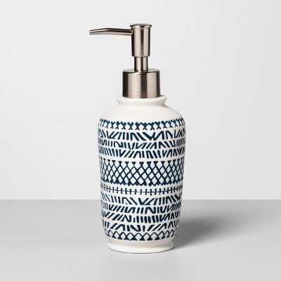 Embossed Soap/lotion Dispenser Navy/White - Opalhouse™