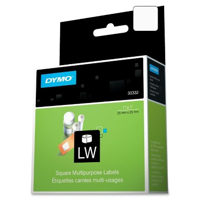 DYMO LabelWriter Multipurpose Labels 1 x 1 White 750 Labels/Roll 30332