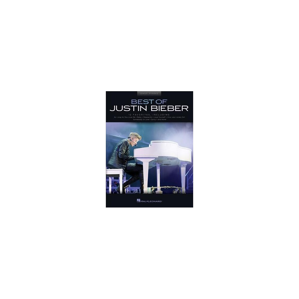 Best of Justin Bieber : Easy Piano - (Paperback)