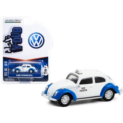 "Classic Volkswagen Beetle White and Blue Acapulco Taxi (Mexico) ""Club Vee V-Dub"" Series 12 1/64 Diecast Model Car by Greenlight"