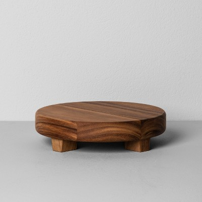 Acacia Wood Round Footed Tray Medium - Hearth & Hand™ with Magnolia
