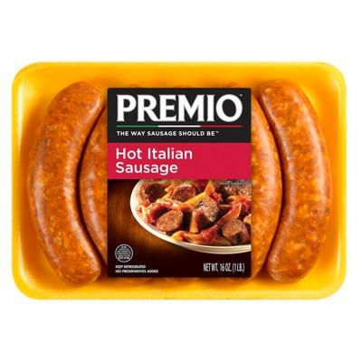 Premio Hot Italian Sausage Links - 16oz/5ct