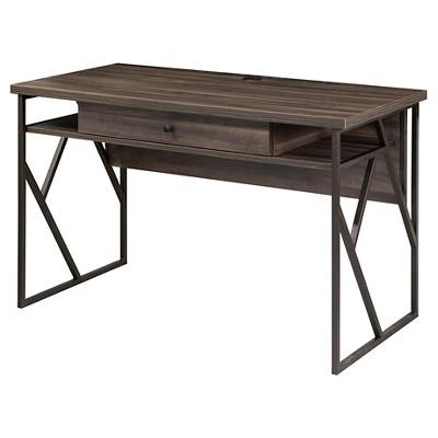 Lifestyles Studio Living Collection Writing Desk Weathered Dark Gray Finish - Intercon