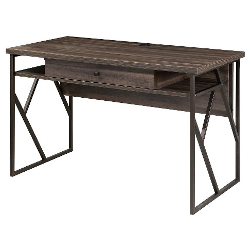 Lifestyles Studio Living Collection Writing Desk Weathered Dark Gray Finish - Intercon - image 1 of 1
