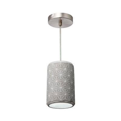 "8"" Pottery Perfect Concrete Geostar Mini Pendant Concrete - Varaluz"