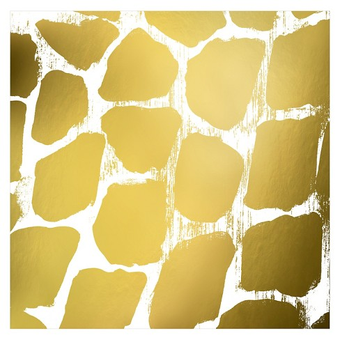 Gold Nairobi Square III (gold foil) by Nicholas Biscardi Unframed Wall Art Print - image 1 of 2
