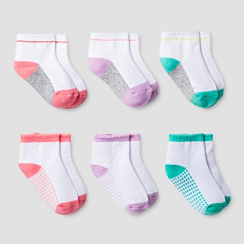 Baby Girls' Low Cut Cushioned Socks 6 pk Cat & Jack™ - Multicolored - image 1 of 1