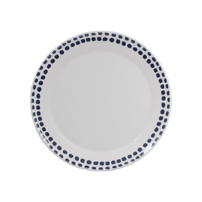 Melamine Polka Dot Dinner Plate 10.5  Washed Indigo - Room Essentials™
