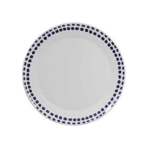 """Melamine Polka Dot Dinner Plate 10.5"""" Washed Indigo - Room Essentials™ - image 1 of 1"""
