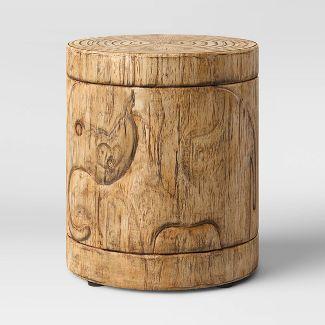Faux Wood Elephant Patio Accent Table - Opalhouse™