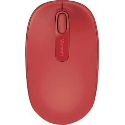 Microsoft 1850 Wireless Mouse Flame Red - Radio Frequency - USB 2.0 Interface - 1000 dpi Movement Resolution - Scroll Wheel - 3 Button(s) Total