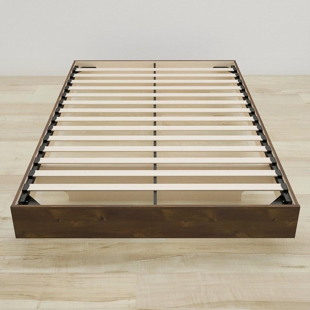 SoHo Full Size Slat Headboard and Platform Bed - Truffle - Nexera