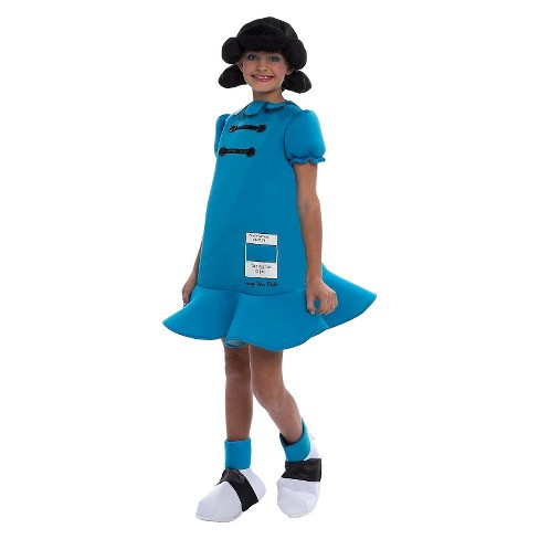 Girls Peanuts Lucy Deluxe Kids Costume - image 1 of 1