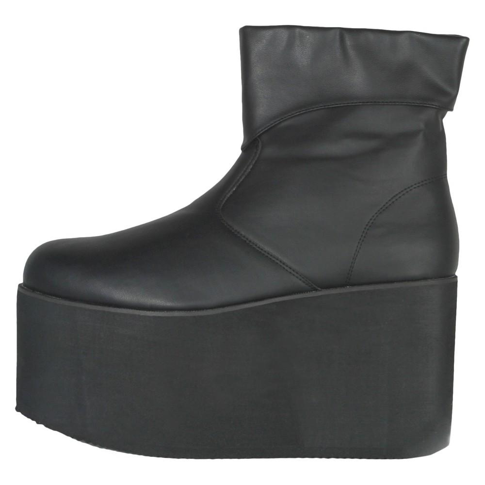 Image of Halloween Men's Monster Boots Black Costume, Size: Medium
