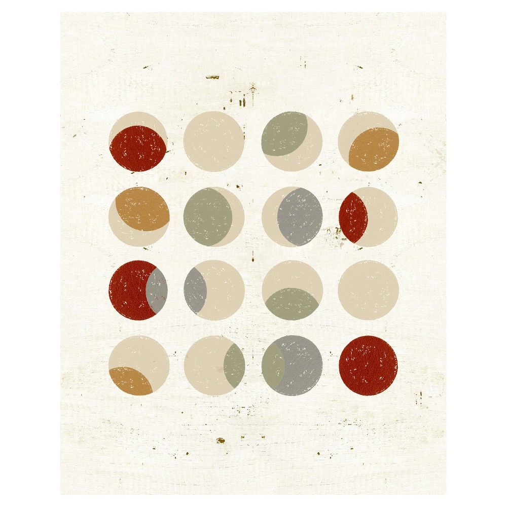Circle Play Light 1 Unframed Wall Canvas Art - (24X30), Multi-Colored
