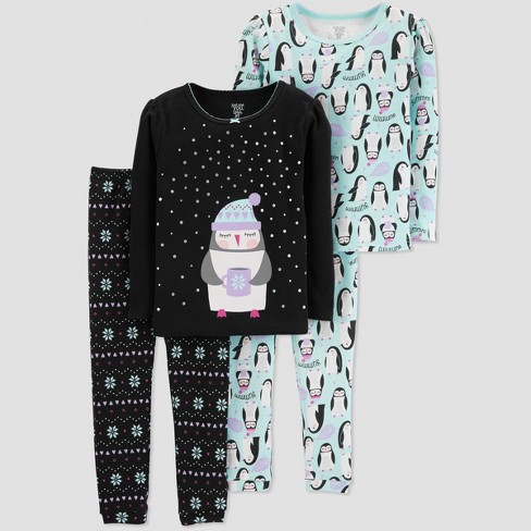 6c90adbd1 Baby Girls  Penguin 4pc Pajama Set - Just One You® Made By Carter s ...